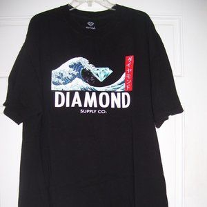 DIAMOND SUPPLY CO. The Great Wave T-Shirt in Black